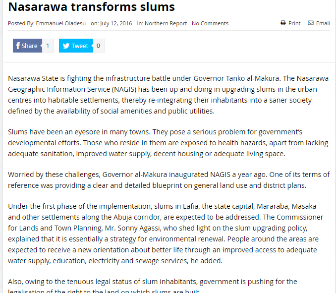 Nagis nasarawa transforms slums malvernweather Choice Image